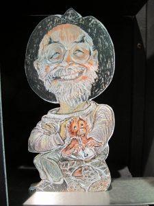 Terry Pratchett als Buchstütze